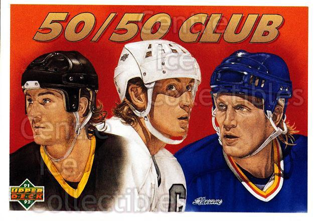 1991-92 Upper Deck #45 Wayne Gretzky, Brett Hull, Mario Lemieux<br/>3 In Stock - $2.00 each - <a href=https://centericecollectibles.foxycart.com/cart?name=1991-92%20Upper%20Deck%20%2345%20Wayne%20Gretzky,%20...&price=$2.00&code=174920 class=foxycart> Buy it now! </a>