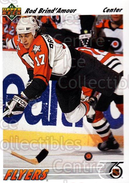 1991-92 Upper Deck #547 Rod Brind'Amour<br/>12 In Stock - $1.00 each - <a href=https://centericecollectibles.foxycart.com/cart?name=1991-92%20Upper%20Deck%20%23547%20Rod%20Brind'Amour...&quantity_max=12&price=$1.00&code=174993 class=foxycart> Buy it now! </a>