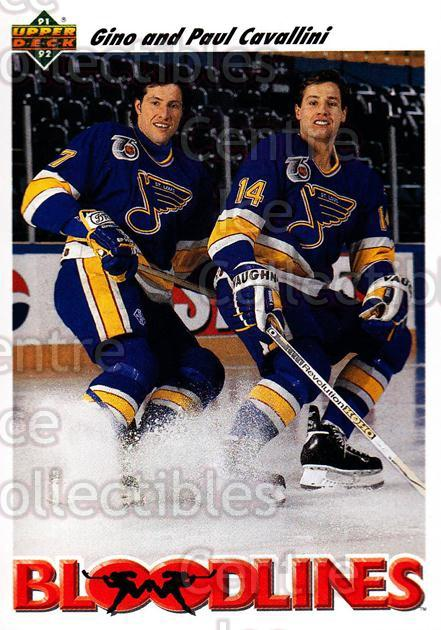 1991-92 Upper Deck #646 Gino Cavallini, Paul Cavallini<br/>5 In Stock - $1.00 each - <a href=https://centericecollectibles.foxycart.com/cart?name=1991-92%20Upper%20Deck%20%23646%20Gino%20Cavallini,...&quantity_max=5&price=$1.00&code=175040 class=foxycart> Buy it now! </a>
