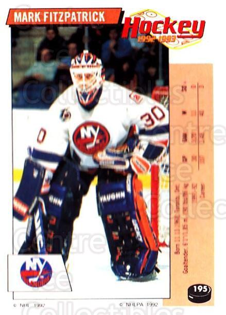 1992-93 Panini Stickers #195 Mark Fitzpatrick<br/>6 In Stock - $1.00 each - <a href=https://centericecollectibles.foxycart.com/cart?name=1992-93%20Panini%20Stickers%20%23195%20Mark%20Fitzpatric...&quantity_max=6&price=$1.00&code=175589 class=foxycart> Buy it now! </a>