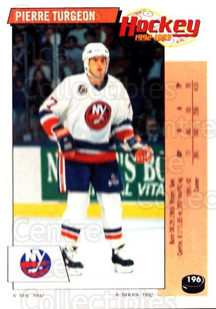 1992-93 Panini Stickers #196 Pierre Turgeon<br/>2 In Stock - $1.00 each - <a href=https://centericecollectibles.foxycart.com/cart?name=1992-93%20Panini%20Stickers%20%23196%20Pierre%20Turgeon...&quantity_max=2&price=$1.00&code=175590 class=foxycart> Buy it now! </a>