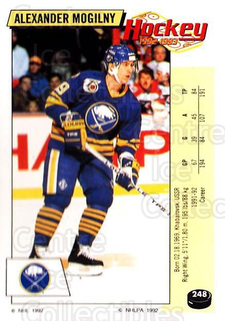 1992-93 Panini Stickers #248 Alexander Mogilny<br/>6 In Stock - $1.00 each - <a href=https://centericecollectibles.foxycart.com/cart?name=1992-93%20Panini%20Stickers%20%23248%20Alexander%20Mogil...&quantity_max=6&price=$1.00&code=175646 class=foxycart> Buy it now! </a>