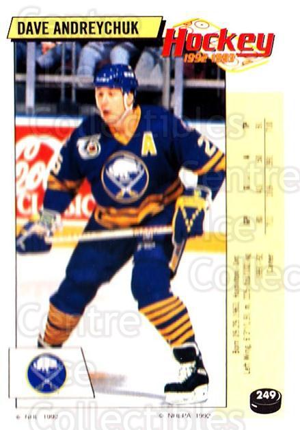 1992-93 Panini Stickers #249 Dave Andreychuk<br/>7 In Stock - $1.00 each - <a href=https://centericecollectibles.foxycart.com/cart?name=1992-93%20Panini%20Stickers%20%23249%20Dave%20Andreychuk...&quantity_max=7&price=$1.00&code=175647 class=foxycart> Buy it now! </a>