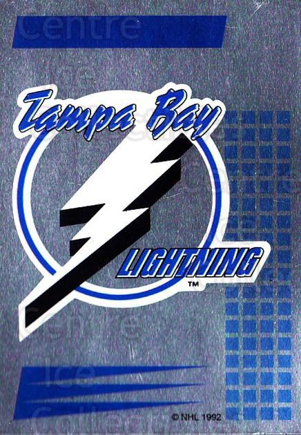 1992-93 Panini Stickers #266 Tampa Bay Lightning<br/>2 In Stock - $1.00 each - <a href=https://centericecollectibles.foxycart.com/cart?name=1992-93%20Panini%20Stickers%20%23266%20Tampa%20Bay%20Light...&quantity_max=2&price=$1.00&code=175666 class=foxycart> Buy it now! </a>