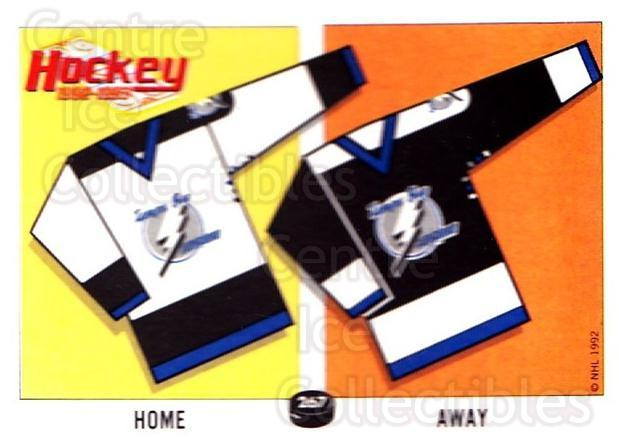 1992-93 Panini Stickers #267 Tampa Bay Lightning<br/>5 In Stock - $1.00 each - <a href=https://centericecollectibles.foxycart.com/cart?name=1992-93%20Panini%20Stickers%20%23267%20Tampa%20Bay%20Light...&quantity_max=5&price=$1.00&code=175667 class=foxycart> Buy it now! </a>