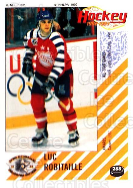 1992-93 Panini Stickers #288 Luc Robitaille<br/>4 In Stock - $1.00 each - <a href=https://centericecollectibles.foxycart.com/cart?name=1992-93%20Panini%20Stickers%20%23288%20Luc%20Robitaille...&quantity_max=4&price=$1.00&code=175683 class=foxycart> Buy it now! </a>