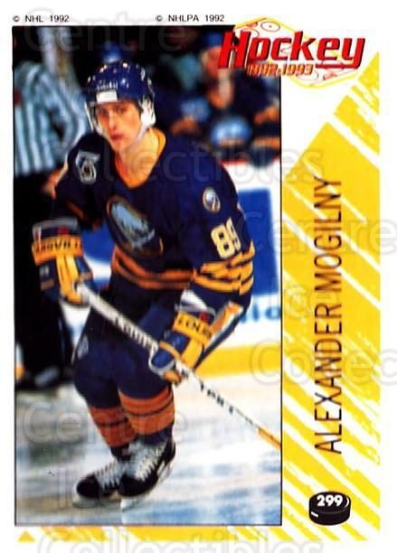1992-93 Panini Stickers #299 Alexander Mogilny<br/>6 In Stock - $1.00 each - <a href=https://centericecollectibles.foxycart.com/cart?name=1992-93%20Panini%20Stickers%20%23299%20Alexander%20Mogil...&quantity_max=6&price=$1.00&code=175689 class=foxycart> Buy it now! </a>