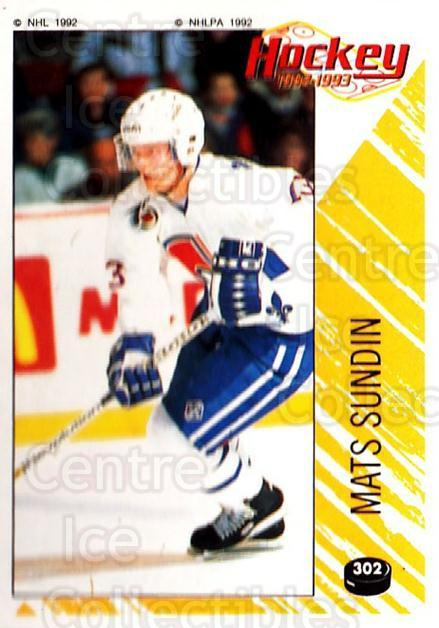 1992-93 Panini Stickers #302 Mats Sundin<br/>7 In Stock - $1.00 each - <a href=https://centericecollectibles.foxycart.com/cart?name=1992-93%20Panini%20Stickers%20%23302%20Mats%20Sundin...&quantity_max=7&price=$1.00&code=175694 class=foxycart> Buy it now! </a>