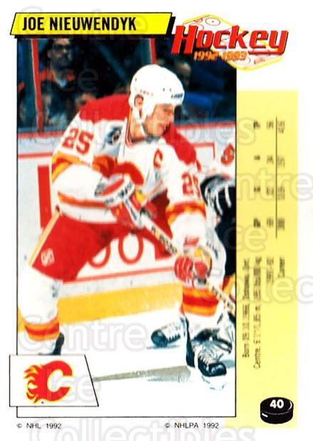 1992-93 Panini Stickers #40 Joe Nieuwendyk<br/>3 In Stock - $1.00 each - <a href=https://centericecollectibles.foxycart.com/cart?name=1992-93%20Panini%20Stickers%20%2340%20Joe%20Nieuwendyk...&quantity_max=3&price=$1.00&code=175711 class=foxycart> Buy it now! </a>
