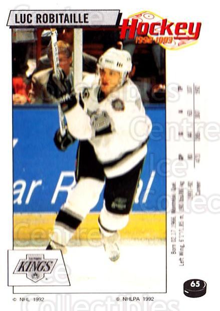 1992-93 Panini Stickers #65 Luc Robitaille<br/>7 In Stock - $1.00 each - <a href=https://centericecollectibles.foxycart.com/cart?name=1992-93%20Panini%20Stickers%20%2365%20Luc%20Robitaille...&quantity_max=7&price=$1.00&code=175736 class=foxycart> Buy it now! </a>
