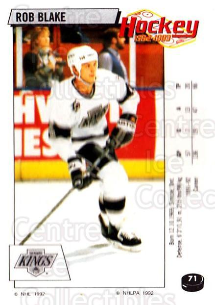 1992-93 Panini Stickers #71 Rob Blake<br/>6 In Stock - $1.00 each - <a href=https://centericecollectibles.foxycart.com/cart?name=1992-93%20Panini%20Stickers%20%2371%20Rob%20Blake...&quantity_max=6&price=$1.00&code=175743 class=foxycart> Buy it now! </a>