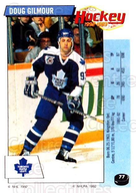 1992-93 Panini Stickers #77 Doug Gilmour<br/>1 In Stock - $1.00 each - <a href=https://centericecollectibles.foxycart.com/cart?name=1992-93%20Panini%20Stickers%20%2377%20Doug%20Gilmour...&quantity_max=1&price=$1.00&code=175749 class=foxycart> Buy it now! </a>