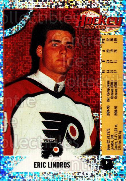 1992-93 Panini Stickers Inserts #P Eric Lindros<br/>3 In Stock - $1.00 each - <a href=https://centericecollectibles.foxycart.com/cart?name=1992-93%20Panini%20Stickers%20Inserts%20%23P%20Eric%20Lindros...&quantity_max=3&price=$1.00&code=175787 class=foxycart> Buy it now! </a>