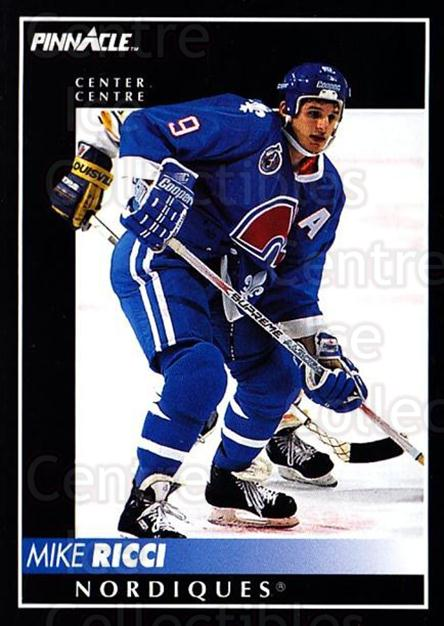 1992-93 Pinnacle Canadian #314 Mike Ricci<br/>5 In Stock - $1.00 each - <a href=https://centericecollectibles.foxycart.com/cart?name=1992-93%20Pinnacle%20Canadian%20%23314%20Mike%20Ricci...&quantity_max=5&price=$1.00&code=176126 class=foxycart> Buy it now! </a>