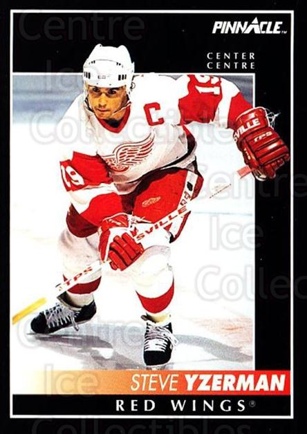 1992-93 Pinnacle Canadian #350 Steve Yzerman<br/>2 In Stock - $2.00 each - <a href=https://centericecollectibles.foxycart.com/cart?name=1992-93%20Pinnacle%20Canadian%20%23350%20Steve%20Yzerman...&quantity_max=2&price=$2.00&code=176165 class=foxycart> Buy it now! </a>