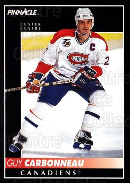 1992-93 Pinnacle Canadian #43 Guy Carbonneau<br/>5 In Stock - $1.00 each - <a href=https://centericecollectibles.foxycart.com/cart?name=1992-93%20Pinnacle%20Canadian%20%2343%20Guy%20Carbonneau...&quantity_max=5&price=$1.00&code=176241 class=foxycart> Buy it now! </a>