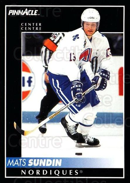 1992-93 Pinnacle Canadian #90 Mats Sundin<br/>4 In Stock - $1.00 each - <a href=https://centericecollectibles.foxycart.com/cart?name=1992-93%20Pinnacle%20Canadian%20%2390%20Mats%20Sundin...&quantity_max=4&price=$1.00&code=176291 class=foxycart> Buy it now! </a>