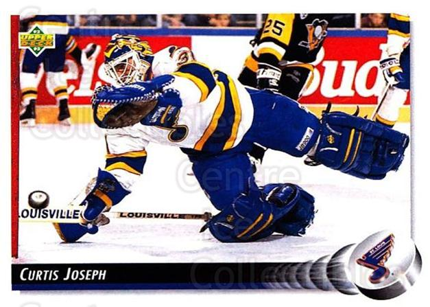 1992-93 Upper Deck #186 Curtis Joseph<br/>5 In Stock - $1.00 each - <a href=https://centericecollectibles.foxycart.com/cart?name=1992-93%20Upper%20Deck%20%23186%20Curtis%20Joseph...&quantity_max=5&price=$1.00&code=176561 class=foxycart> Buy it now! </a>