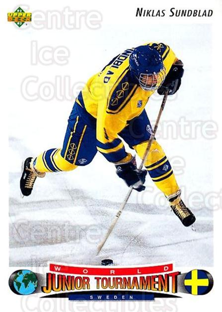 1992-93 Upper Deck #227 Niklas Sundblad<br/>2 In Stock - $1.00 each - <a href=https://centericecollectibles.foxycart.com/cart?name=1992-93%20Upper%20Deck%20%23227%20Niklas%20Sundblad...&quantity_max=2&price=$1.00&code=176606 class=foxycart> Buy it now! </a>