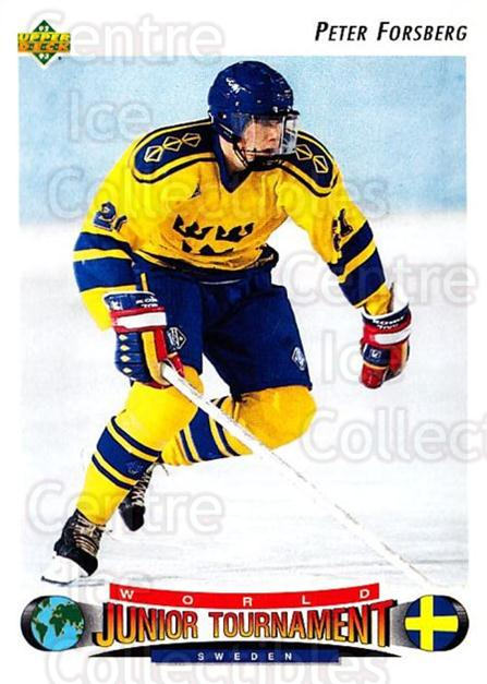 1992-93 Upper Deck #235 Peter Forsberg<br/>1 In Stock - $1.00 each - <a href=https://centericecollectibles.foxycart.com/cart?name=1992-93%20Upper%20Deck%20%23235%20Peter%20Forsberg...&price=$1.00&code=176613 class=foxycart> Buy it now! </a>