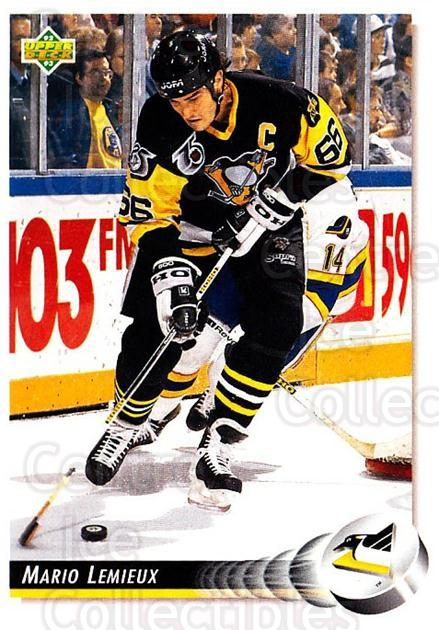 1992-93 Upper Deck #26 Mario Lemieux<br/>2 In Stock - $1.00 each - <a href=https://centericecollectibles.foxycart.com/cart?name=1992-93%20Upper%20Deck%20%2326%20Mario%20Lemieux...&price=$1.00&code=176638 class=foxycart> Buy it now! </a>