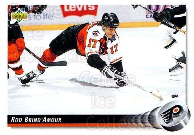 1992-93 Upper Deck #264 Rod Brind'Amour<br/>5 In Stock - $1.00 each - <a href=https://centericecollectibles.foxycart.com/cart?name=1992-93%20Upper%20Deck%20%23264%20Rod%20Brind'Amour...&quantity_max=5&price=$1.00&code=176643 class=foxycart> Buy it now! </a>