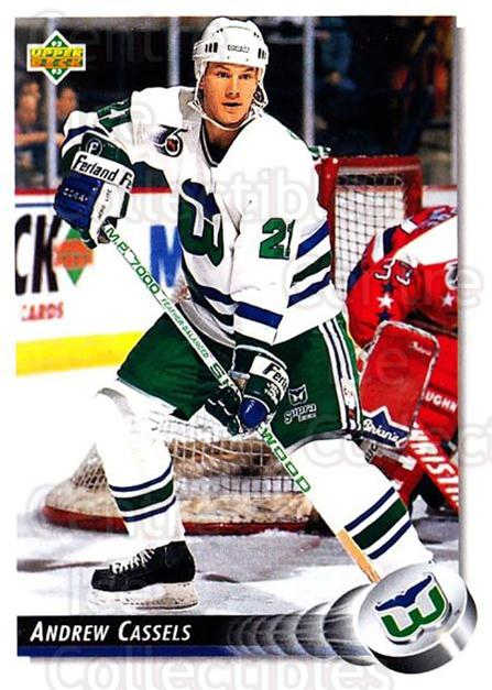 1992-93 Upper Deck #288 Andrew Cassels<br/>5 In Stock - $1.00 each - <a href=https://centericecollectibles.foxycart.com/cart?name=1992-93%20Upper%20Deck%20%23288%20Andrew%20Cassels...&quantity_max=5&price=$1.00&code=176667 class=foxycart> Buy it now! </a>