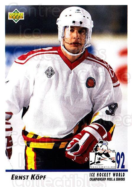 1992-93 Upper Deck #372 Ernst Kopf<br/>5 In Stock - $1.00 each - <a href=https://centericecollectibles.foxycart.com/cart?name=1992-93%20Upper%20Deck%20%23372%20Ernst%20Kopf...&quantity_max=5&price=$1.00&code=176757 class=foxycart> Buy it now! </a>