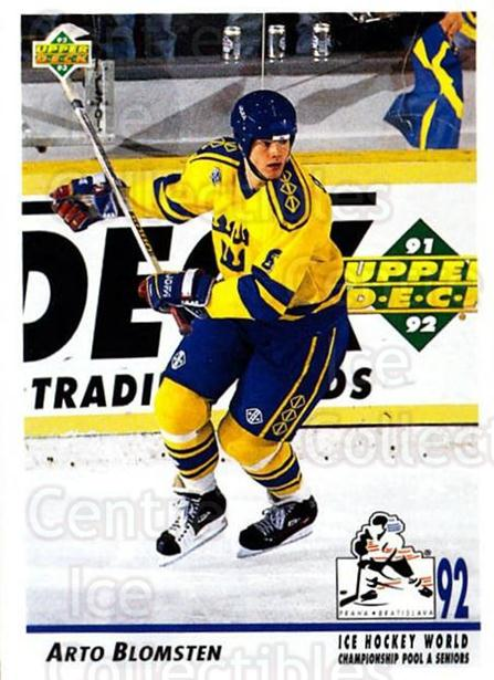 1992-93 Upper Deck #376 Arto Blomsten<br/>4 In Stock - $1.00 each - <a href=https://centericecollectibles.foxycart.com/cart?name=1992-93%20Upper%20Deck%20%23376%20Arto%20Blomsten...&price=$1.00&code=176761 class=foxycart> Buy it now! </a>