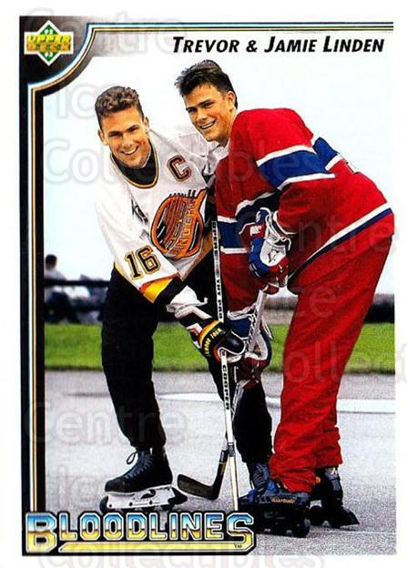 1992-93 Upper Deck #38 Jamie Linden, Trevor Linden<br/>4 In Stock - $1.00 each - <a href=https://centericecollectibles.foxycart.com/cart?name=1992-93%20Upper%20Deck%20%2338%20Jamie%20Linden,%20T...&quantity_max=4&price=$1.00&code=176765 class=foxycart> Buy it now! </a>