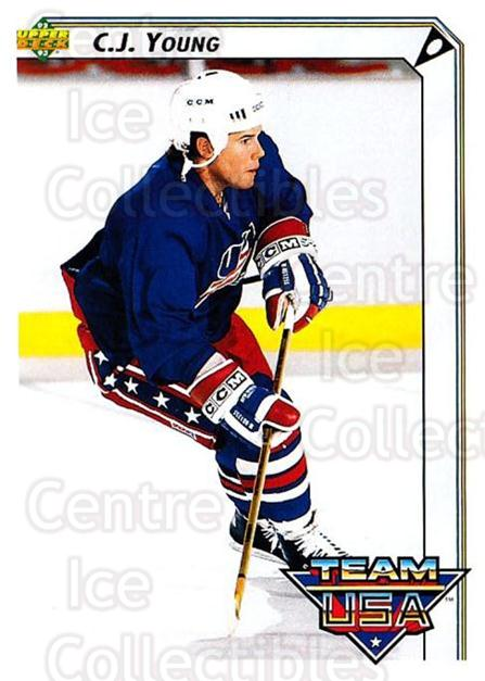 1992-93 Upper Deck #395 CJ Young<br/>4 In Stock - $1.00 each - <a href=https://centericecollectibles.foxycart.com/cart?name=1992-93%20Upper%20Deck%20%23395%20CJ%20Young...&quantity_max=4&price=$1.00&code=176782 class=foxycart> Buy it now! </a>