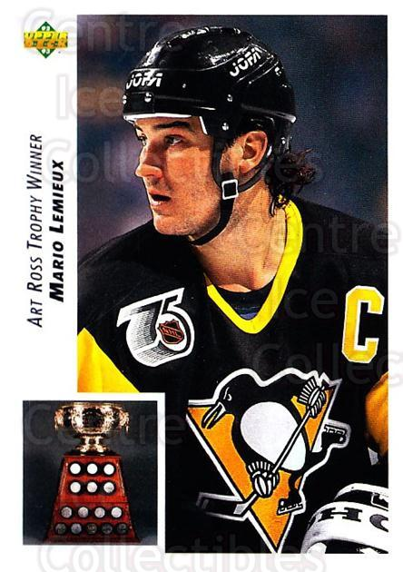 1992-93 Upper Deck #433 Mario Lemieux, Art Ross Trophy<br/>3 In Stock - $2.00 each - <a href=https://centericecollectibles.foxycart.com/cart?name=1992-93%20Upper%20Deck%20%23433%20Mario%20Lemieux,%20...&price=$2.00&code=176823 class=foxycart> Buy it now! </a>