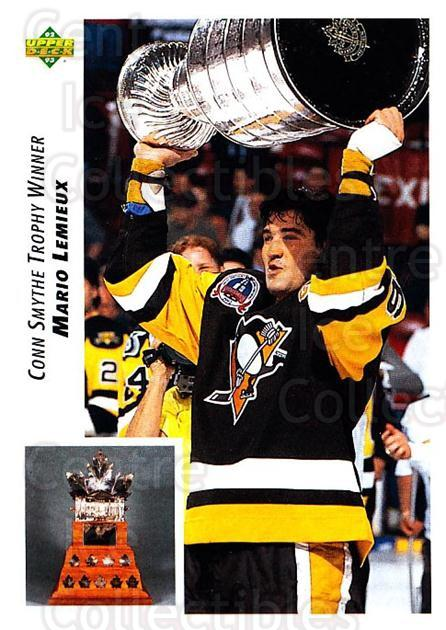 1992-93 Upper Deck #436 Mario Lemieux, Conn Smythe Trophy<br/>1 In Stock - $2.00 each - <a href=https://centericecollectibles.foxycart.com/cart?name=1992-93%20Upper%20Deck%20%23436%20Mario%20Lemieux,%20...&price=$2.00&code=176826 class=foxycart> Buy it now! </a>