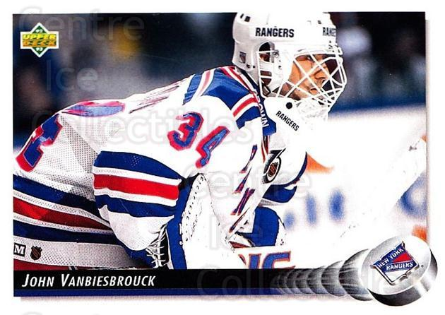 1992-93 Upper Deck #44 John Vanbiesbrouck<br/>3 In Stock - $1.00 each - <a href=https://centericecollectibles.foxycart.com/cart?name=1992-93%20Upper%20Deck%20%2344%20John%20Vanbiesbro...&quantity_max=3&price=$1.00&code=176830 class=foxycart> Buy it now! </a>