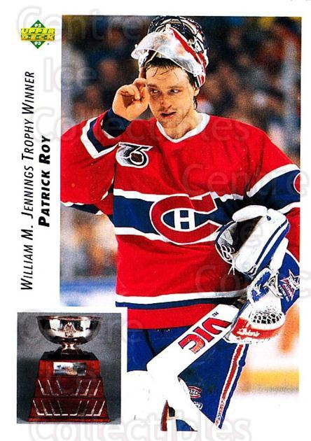 1992-93 Upper Deck #440 Patrick Roy, Jennings Trophy<br/>3 In Stock - $2.00 each - <a href=https://centericecollectibles.foxycart.com/cart?name=1992-93%20Upper%20Deck%20%23440%20Patrick%20Roy,%20Je...&quantity_max=3&price=$2.00&code=176831 class=foxycart> Buy it now! </a>