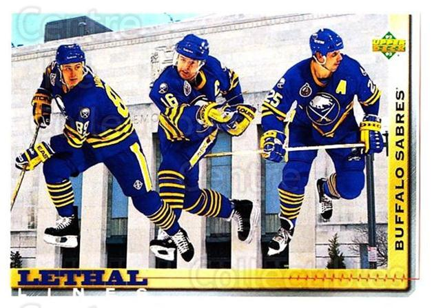 1992-93 Upper Deck #456 Pat LaFontaine, Dave Andreychuk, Alexander Mogilny<br/>2 In Stock - $1.00 each - <a href=https://centericecollectibles.foxycart.com/cart?name=1992-93%20Upper%20Deck%20%23456%20Pat%20LaFontaine,...&quantity_max=2&price=$1.00&code=176848 class=foxycart> Buy it now! </a>