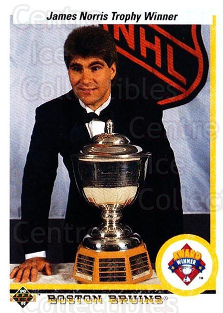 1990-91 Upper Deck #204 Ray Bourque, Norris Trophy<br/>6 In Stock - $1.00 each - <a href=https://centericecollectibles.foxycart.com/cart?name=1990-91%20Upper%20Deck%20%23204%20Ray%20Bourque,%20No...&quantity_max=6&price=$1.00&code=17684 class=foxycart> Buy it now! </a>