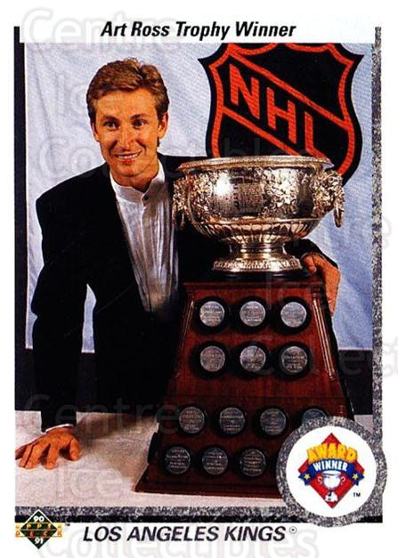 1990-91 Upper Deck #205 Wayne Gretzky, Art Ross Trophy<br/>3 In Stock - $2.00 each - <a href=https://centericecollectibles.foxycart.com/cart?name=1990-91%20Upper%20Deck%20%23205%20Wayne%20Gretzky,%20...&price=$2.00&code=17685 class=foxycart> Buy it now! </a>