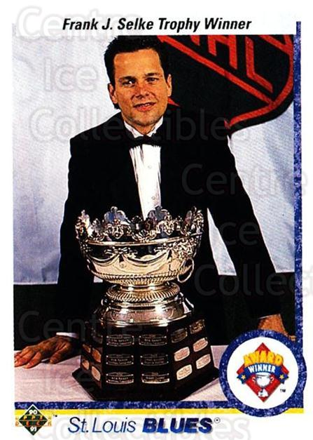 1990-91 Upper Deck #208 Rick Meagher, Selke Trophy<br/>6 In Stock - $1.00 each - <a href=https://centericecollectibles.foxycart.com/cart?name=1990-91%20Upper%20Deck%20%23208%20Rick%20Meagher,%20S...&quantity_max=6&price=$1.00&code=17688 class=foxycart> Buy it now! </a>