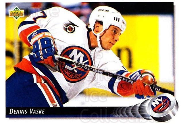 1992-93 Upper Deck #50 Dennis Vaske<br/>3 In Stock - $1.00 each - <a href=https://centericecollectibles.foxycart.com/cart?name=1992-93%20Upper%20Deck%20%2350%20Dennis%20Vaske...&quantity_max=3&price=$1.00&code=176897 class=foxycart> Buy it now! </a>