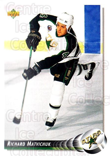 1992-93 Upper Deck #505 Richard Matvichuk<br/>2 In Stock - $1.00 each - <a href=https://centericecollectibles.foxycart.com/cart?name=1992-93%20Upper%20Deck%20%23505%20Richard%20Matvich...&quantity_max=2&price=$1.00&code=176903 class=foxycart> Buy it now! </a>