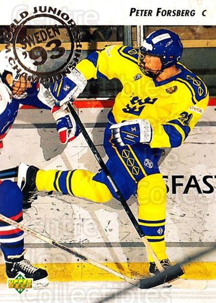 1992-93 Upper Deck #595 Peter Forsberg<br/>5 In Stock - $1.00 each - <a href=https://centericecollectibles.foxycart.com/cart?name=1992-93%20Upper%20Deck%20%23595%20Peter%20Forsberg...&price=$1.00&code=177000 class=foxycart> Buy it now! </a>