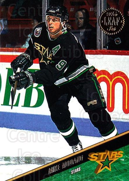 1993-94 Leaf #202 Mike Modano<br/>4 In Stock - $1.00 each - <a href=https://centericecollectibles.foxycart.com/cart?name=1993-94%20Leaf%20%23202%20Mike%20Modano...&quantity_max=4&price=$1.00&code=177482 class=foxycart> Buy it now! </a>
