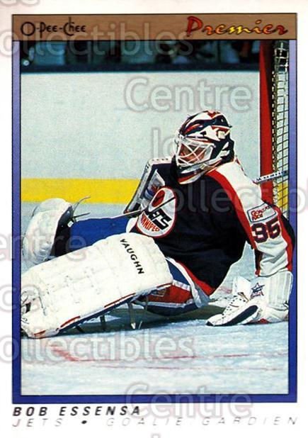 1990-91 OPC Premier #29 Bob Essensa<br/>10 In Stock - $1.00 each - <a href=https://centericecollectibles.foxycart.com/cart?name=1990-91%20OPC%20Premier%20%2329%20Bob%20Essensa...&quantity_max=10&price=$1.00&code=17756 class=foxycart> Buy it now! </a>