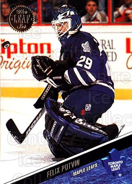 1993-94 Leaf #409 Felix Potvin<br/>2 In Stock - $1.00 each - <a href=https://centericecollectibles.foxycart.com/cart?name=1993-94%20Leaf%20%23409%20Felix%20Potvin...&quantity_max=2&price=$1.00&code=177699 class=foxycart> Buy it now! </a>