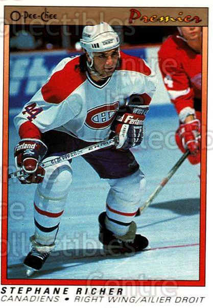 1990-91 OPC Premier #98 Stephane Richer<br/>11 In Stock - $1.00 each - <a href=https://centericecollectibles.foxycart.com/cart?name=1990-91%20OPC%20Premier%20%2398%20Stephane%20Richer...&quantity_max=11&price=$1.00&code=17827 class=foxycart> Buy it now! </a>