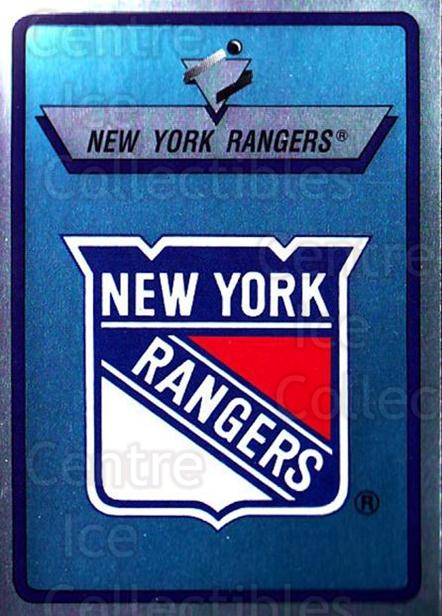 1990-91 Panini Stickers #102 New York Rangers<br/>11 In Stock - $1.00 each - <a href=https://centericecollectibles.foxycart.com/cart?name=1990-91%20Panini%20Stickers%20%23102%20New%20York%20Ranger...&quantity_max=11&price=$1.00&code=17833 class=foxycart> Buy it now! </a>