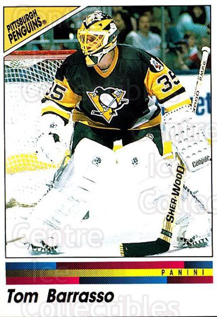 1990-91 Panini Stickers #134 Tom Barrasso<br/>10 In Stock - $1.00 each - <a href=https://centericecollectibles.foxycart.com/cart?name=1990-91%20Panini%20Stickers%20%23134%20Tom%20Barrasso...&quantity_max=10&price=$1.00&code=17867 class=foxycart> Buy it now! </a>