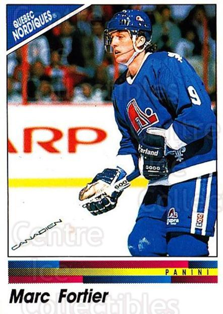 1990-91 Panini Stickers #153 Marc Fortier<br/>9 In Stock - $1.00 each - <a href=https://centericecollectibles.foxycart.com/cart?name=1990-91%20Panini%20Stickers%20%23153%20Marc%20Fortier...&quantity_max=9&price=$1.00&code=17886 class=foxycart> Buy it now! </a>