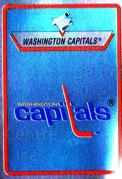 1990-91 Panini Stickers #162 Washington Capitals<br/>9 In Stock - $1.00 each - <a href=https://centericecollectibles.foxycart.com/cart?name=1990-91%20Panini%20Stickers%20%23162%20Washington%20Capi...&quantity_max=9&price=$1.00&code=17895 class=foxycart> Buy it now! </a>